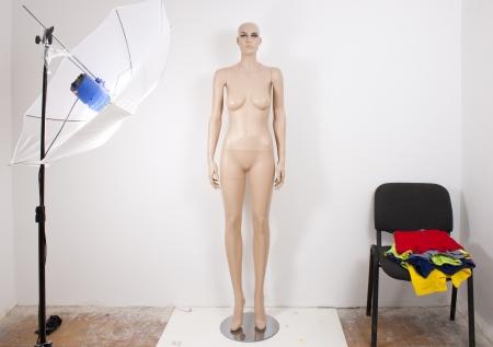 Mannequin in studio photo