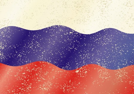 cleaned: Russian grunge flag. Grunge effect can be cleaned easily.