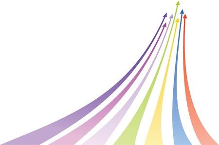 Multicolored arrows. Vector illustration Illustration
