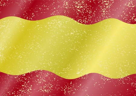 cleaned: Spanish grunge flag. Grunge effect can be cleaned easily.