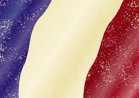 cleaned: French grunge flag. Grunge effect can be cleaned easily. Illustration