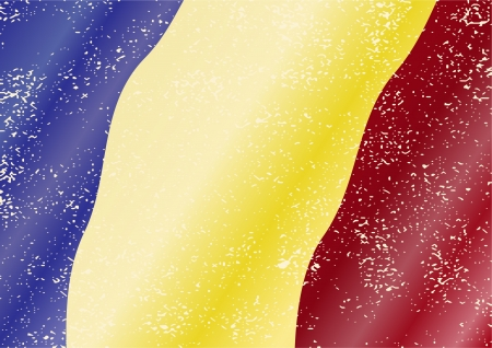 cleaned: Romanian grunge flag. Grunge effect can be cleaned easily.
