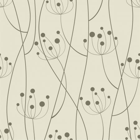 작은 숲: 원활한 패턴입니다. 벡터 일러스트 레이 션.