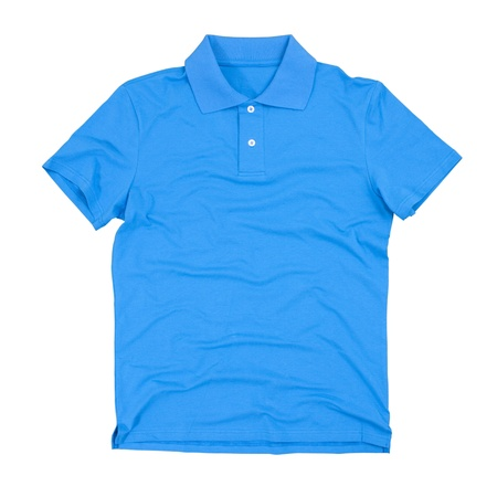 Photograph of blank polo shirt isolated on white. photo
