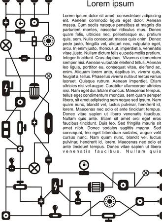 mechanical: Abstracte technologie achtergrond illustratie