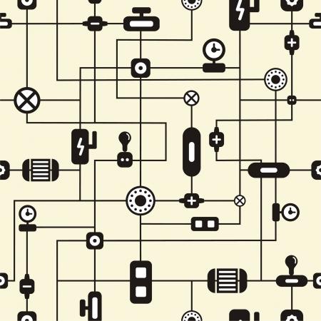 Abstract technology seamless pattern illustration Stock Vector - 14782170