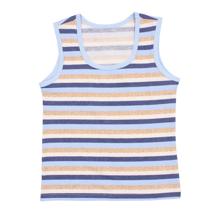 fashion  babies's wear: Sleeveless childrens shirt isolated on white background. Clipping paths included.