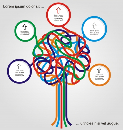 Concept of colorful tree for different business design Vettoriali