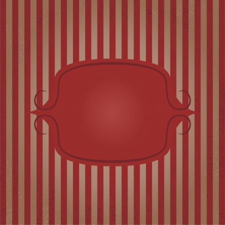 Vintage frame striped background. Vector