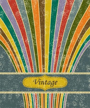 Vintage salute grunge background. Illustration
