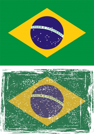 cleaned: Brazilian grunge flag. Grunge effect can be cleaned easily.