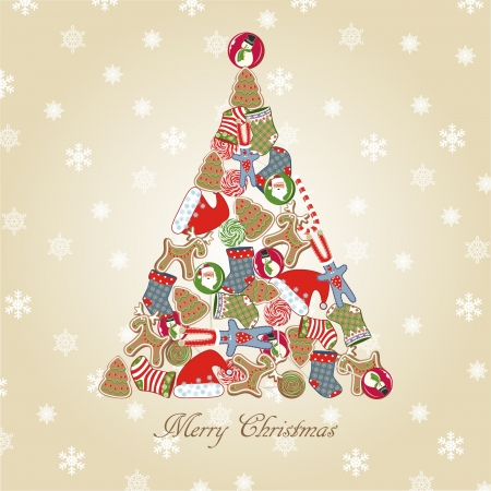 christmas cookie: Christmas tree.  Illustration