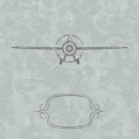 airplane cargo: Vintage Plane background. Vector illustration