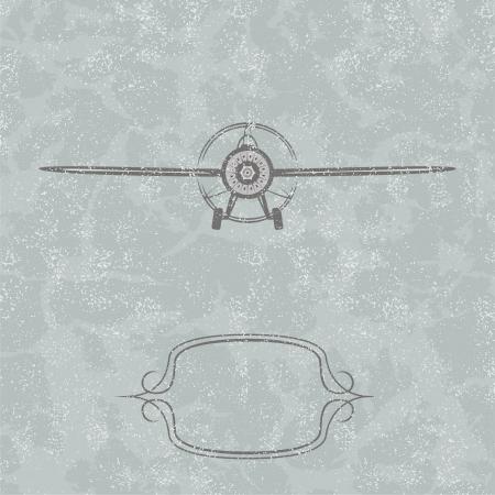aerei: Vintage sfondo aereo. Vector illustration Vettoriali