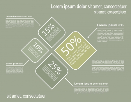 phonographic: Infographic template. Vector illustration