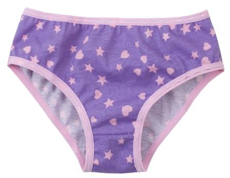 underclothes: elegant panties isolated on white background