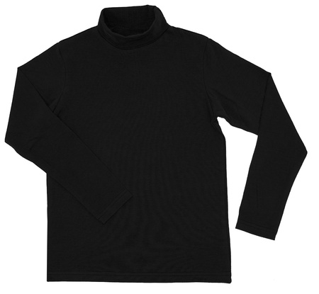 Black turtleneck. Isolated on a white background. photo