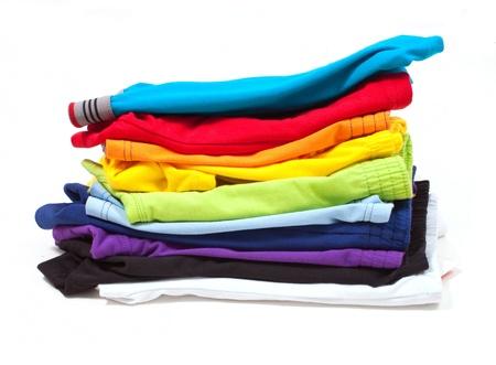 ropa interior: Pila de ropa interior masculina aislada en el blanco