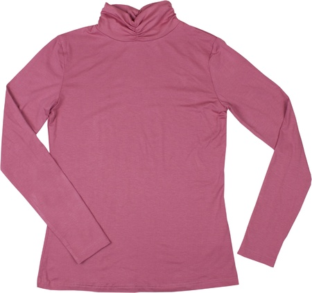 Pink turtleneck. Isolated on a white background. photo