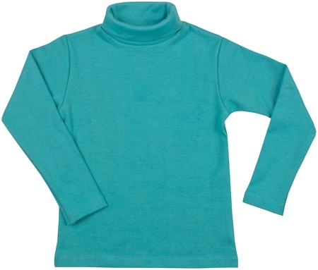 Turquoise turtleneck  Isolated on a white background  photo