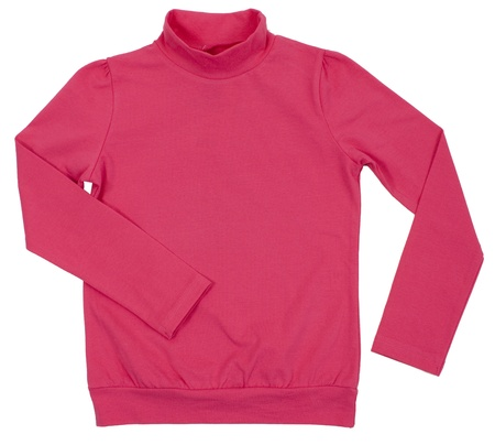 Pink turtleneck. Isolated on a white background. Stock Photo - 20333798