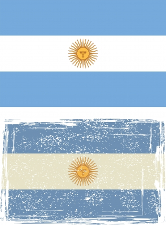 argentine: Argentine grunge flag illustration