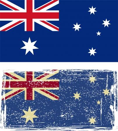 flag australia: the Australian grunge flag illustration