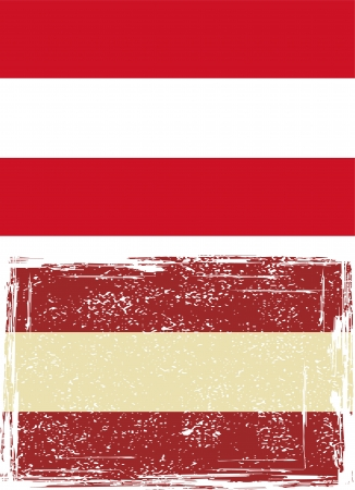austrian: Austrian grunge flag illustration