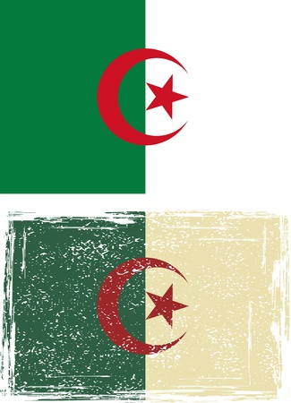 algerian flag: Algerian grunge flag  Vector