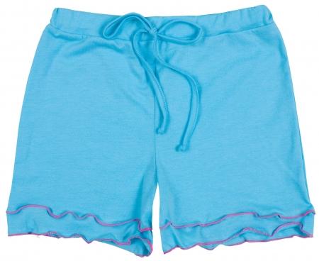 ruche: Elegant blue shorts isolated on white backround