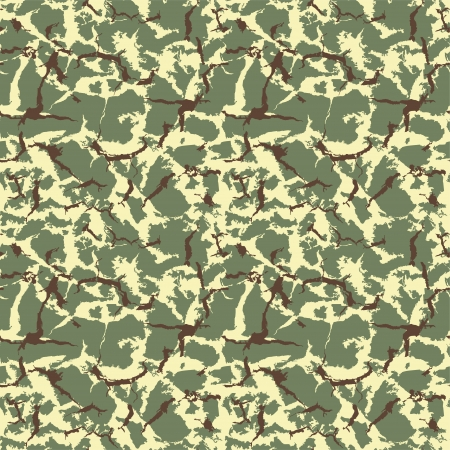 Military camouflage seamless texture  Vector Illustration