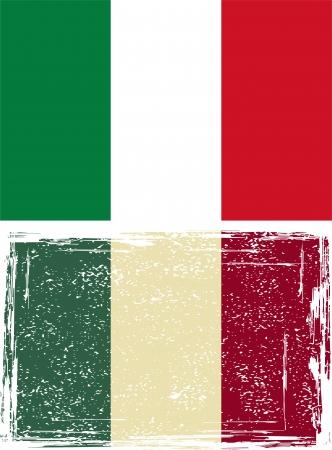Italian grunge flag  Vector illustration  Vector