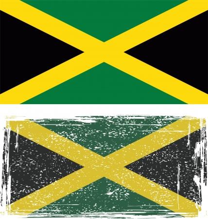 jamaican: Jamaica grunge ilustraci�n de la bandera Vector