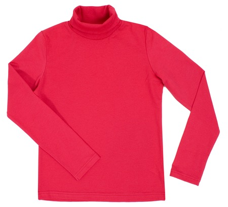 Red turtleneck. Isolated on a white background. photo