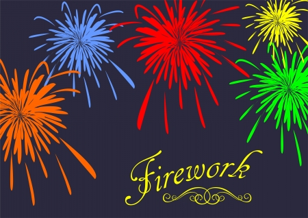 fayer: Abstract festive fireworks background. Vector illustration Illustration