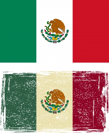 flag mexico: Mexican grunge flag. Vector illustration.