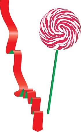 Lollipop and ribbon. Vector illustration Stock Vector - 24873345