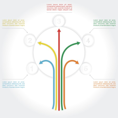 Concept of colorful tree for different business design. Vector illustration Vector