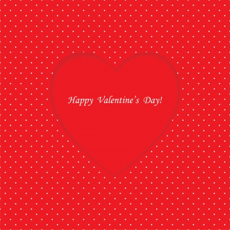 Card with heart shape on Polka dot background  Valentine Vector