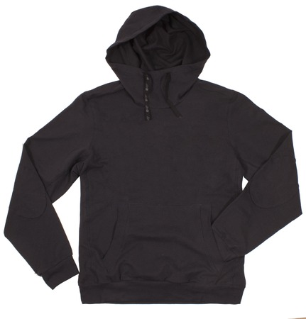 hoodie: Black hoodie isolated on white