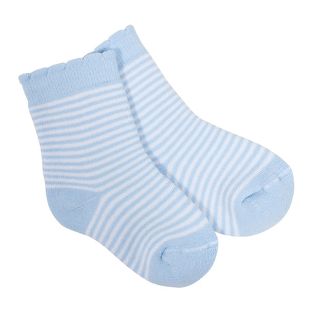 Striped socks isolated on white  photo