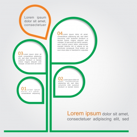 Concept of tree for different business design. Vector illustration Vector