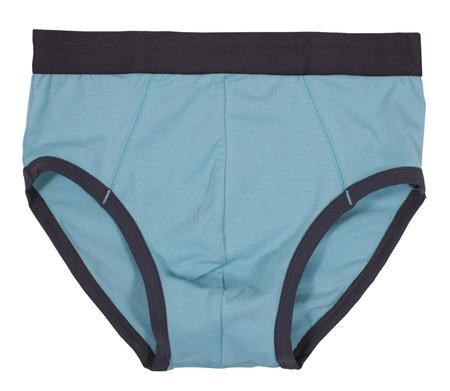 man in underwear: Child briefs isolated on white