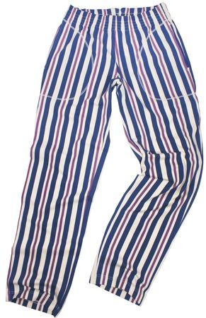 striped pajamas: Striped pijama sweatpants isolated on white  Stock Photo
