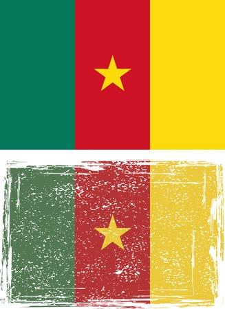 cameroonian: Cameroonian grunge flag. illustration.