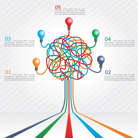 Concept of colorful tree for different business design.  illustration Vector