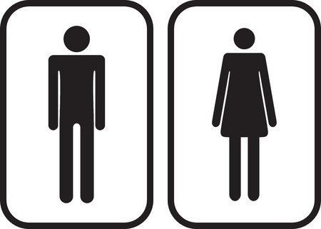 Man and Woman restroom signs.