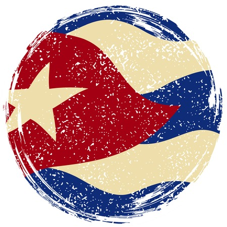 cuban flag: Cuban grunge flag. Grunge effect can be cleaned easily. illustration