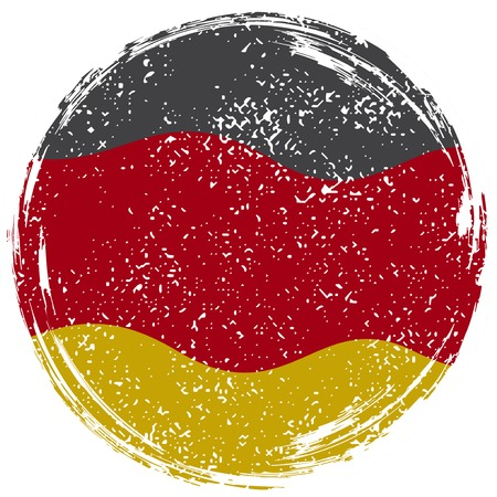 Germany grunge flag. Grunge effect can be cleaned easily.  illustration. Illustration
