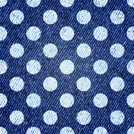 Jeans retro seamless polka-dot illustration Vector